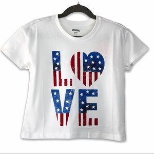 Gymboree Patriotic LOVE Short Sleeve Tee S (5-6)